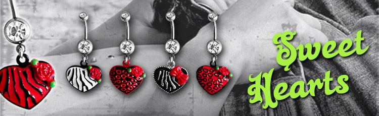 Sweet Heart Belly Rings