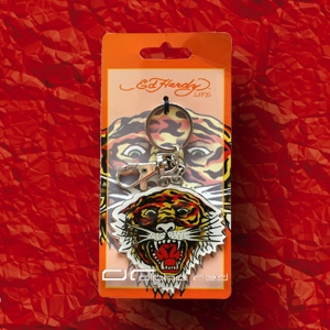 »»» ED HARDY TIGER OPEN MOUTH ANHÄNGER 4592
