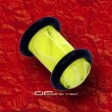»»» UV MARMOR OHR EAR PLUG gelb TUNNEL 2530