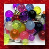 »»» 3er SET BUNTE UV BAUCHNABELPIERCING GLOW DARK 2657