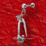 »»» HELIX PIERCING ANHÄNGER SAFETY PIN Kristall 3358