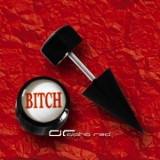 »»» FAKE OHR PIERCING SPIKE PLUG BAD STYLE - BITCH - 5542