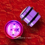 ��� BLINKING LED OHR PLUG PIERCING TITAN 12-16mm violett 1022