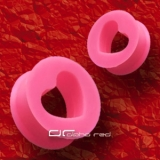 »»» HERZ CUT OUT FLEXI SILIKON TUNNEL OHRPIERCING 8-26mm pink 1746
