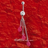��� BAUCHNABELPIERCING KNUCKLE-DUSTER pink 1281