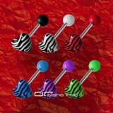 »»» 6er SET ZEBRA SHAPE ZUNGENPIERCING HERZ 8303