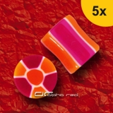 »»» 5er DEHNUNGSSET NUCLEAR ACRYL SADDLE PLUG ila orange 3-8 mm 8489