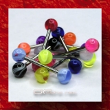 »»» 6er SET ZUNGENPIERCING UV MARMOR 917